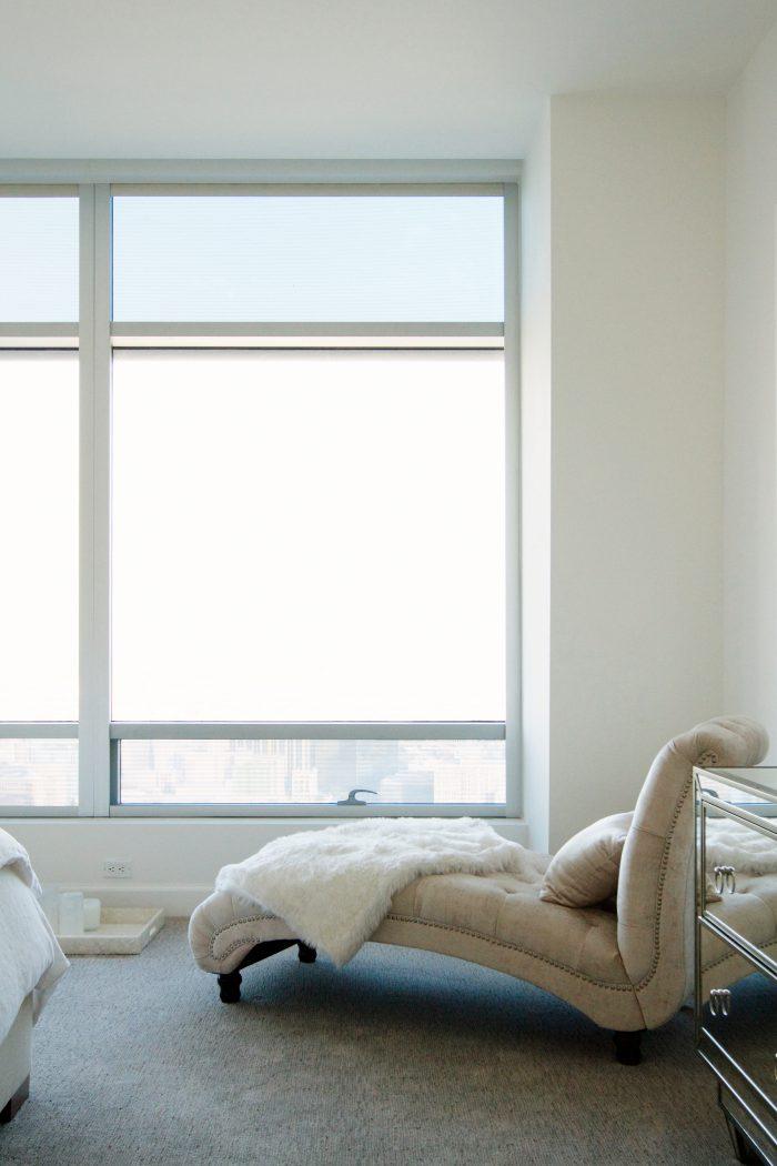 Interior sofa large window